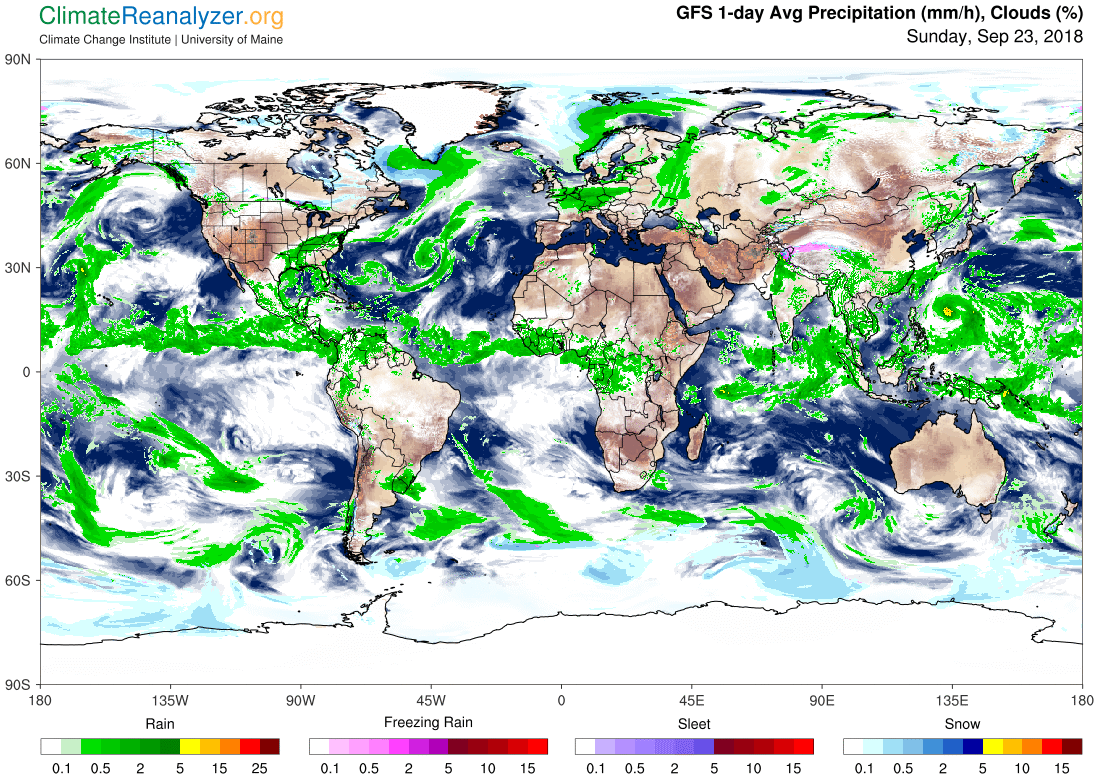 Global Meteo Overview 23 September, 2018 #Earth #weather (Raport meteo Pamant - 23 Septembrie 2018)