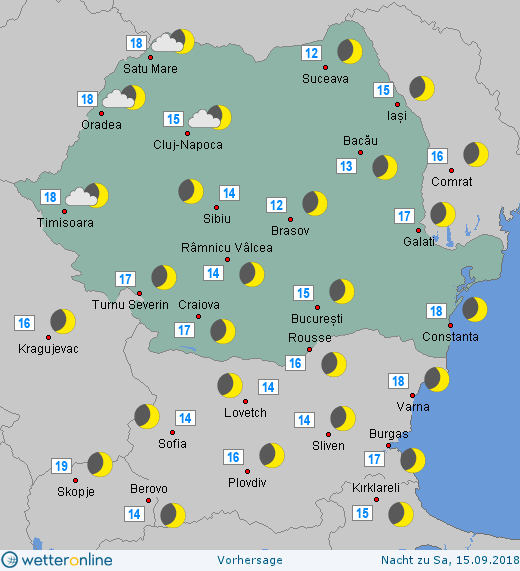 Prognoza meteo Romania 14 Septembrie 2018 #Romania (Romania weather forecast for today).