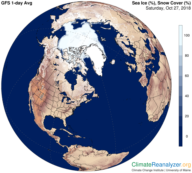 Global Meteo Overview 27 October, 2018 #Earth #weather (Raport meteo Pamant - 27 Octombrie 2018)