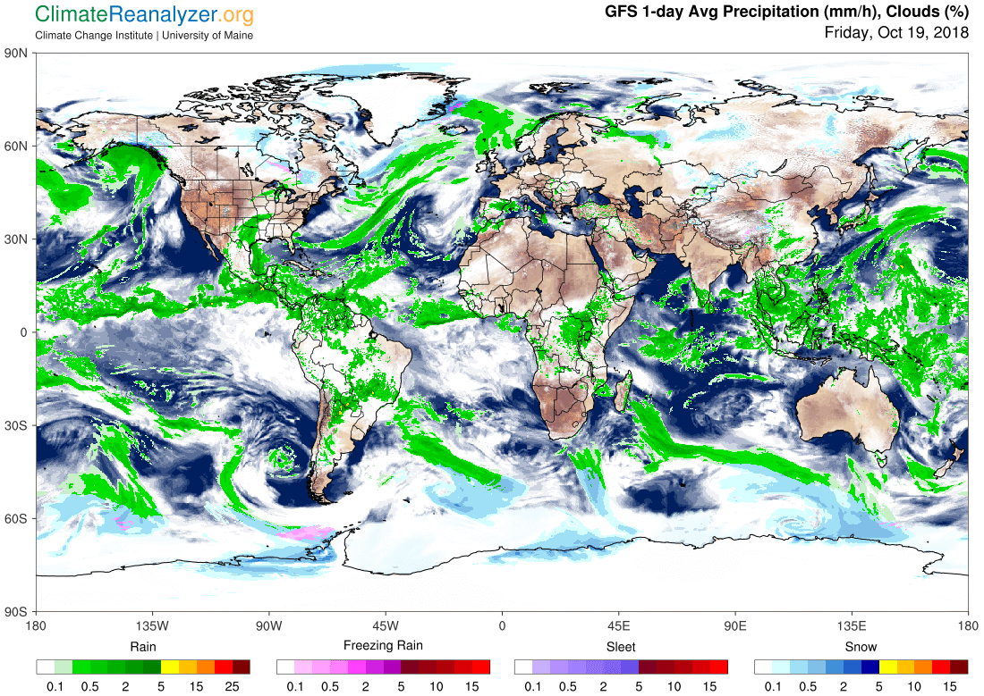 Global Meteo Overview 19 October, 2018 #Earth #weather (Raport meteo Pamant - 19 Octombrie 2018)