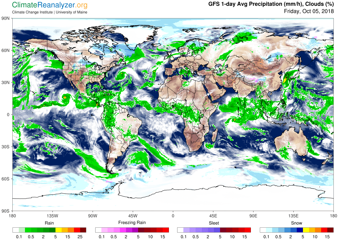Global Meteo Overview 5 October, 2018 #Earth #weather (Raport meteo Pamant - 5 Octombrie 2018)