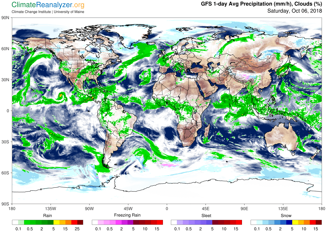 Global Meteo Overview 6 October, 2018 #Earth #weather (Raport meteo Pamant - 6 Octombrie 2018)
