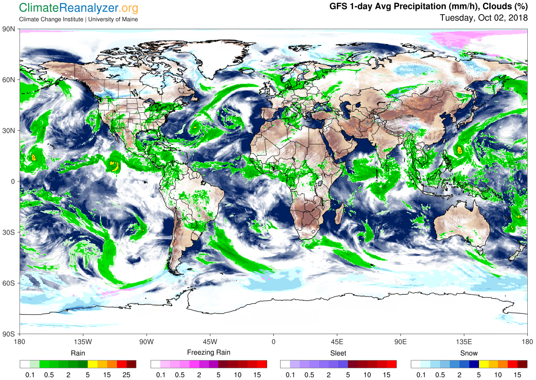 Global Meteo Overview 2 October, 2018 #Earth #weather (Raport meteo Pamant - 2 Octombrie 2018)