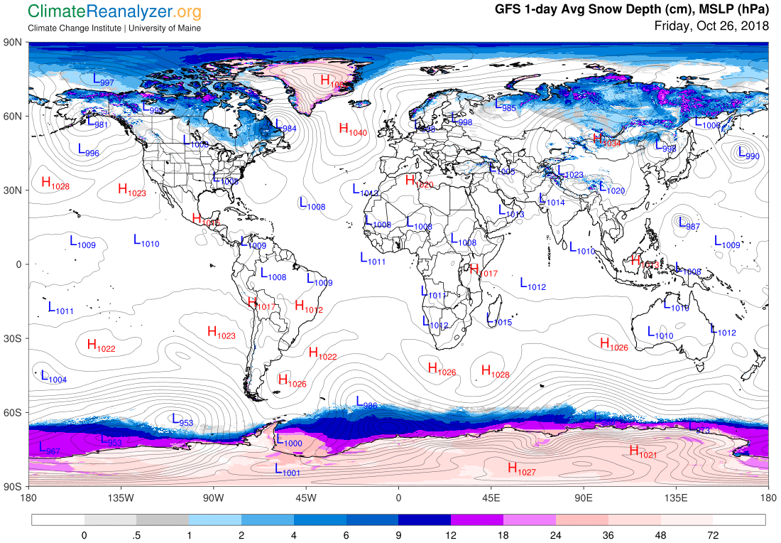 Global Meteo Overview 26 October, 2018 #Earth #weather (Raport meteo Pamant - 26 Octombrie 2018)