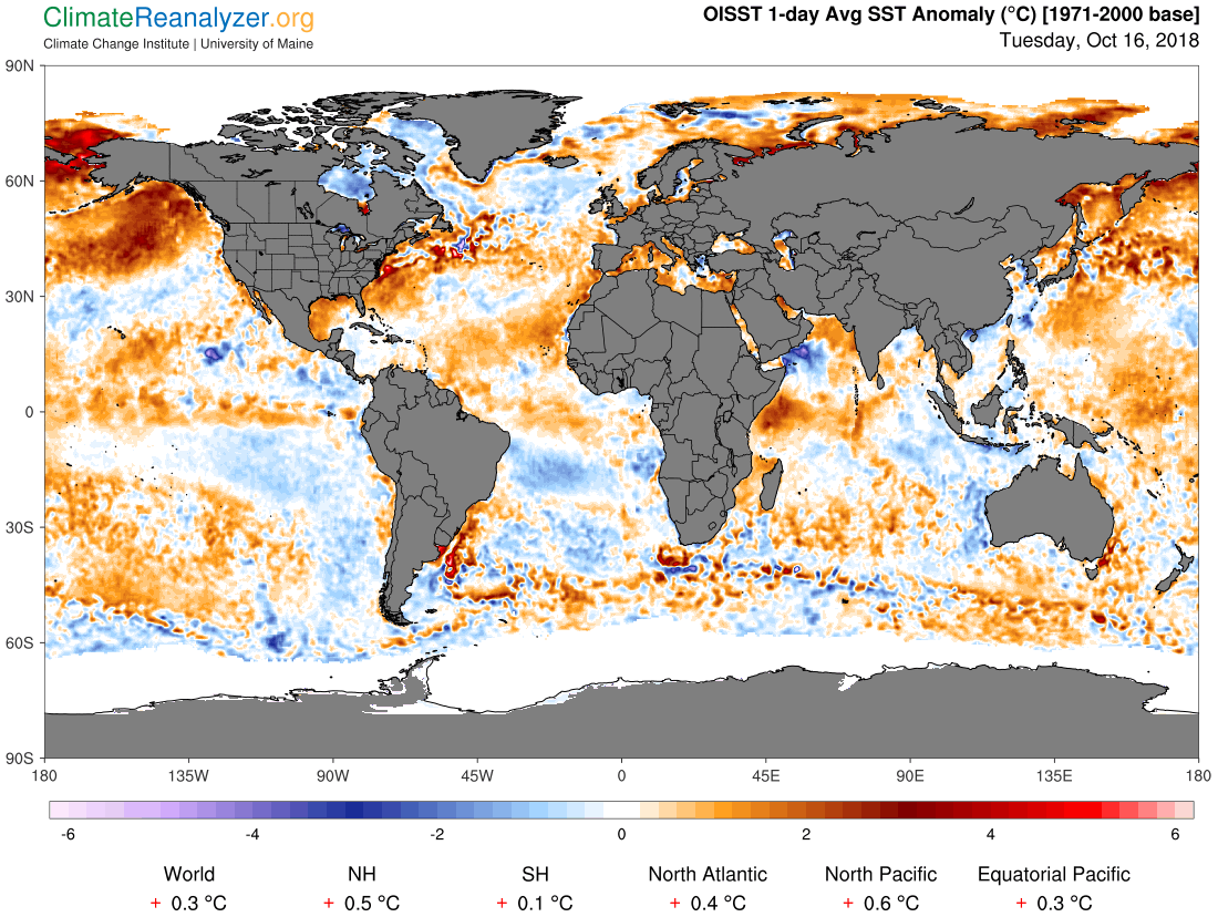 Global Meteo Overview 18 October, 2018 #Earth #weather (Raport meteo Pamant - 18 Octombrie 2018)