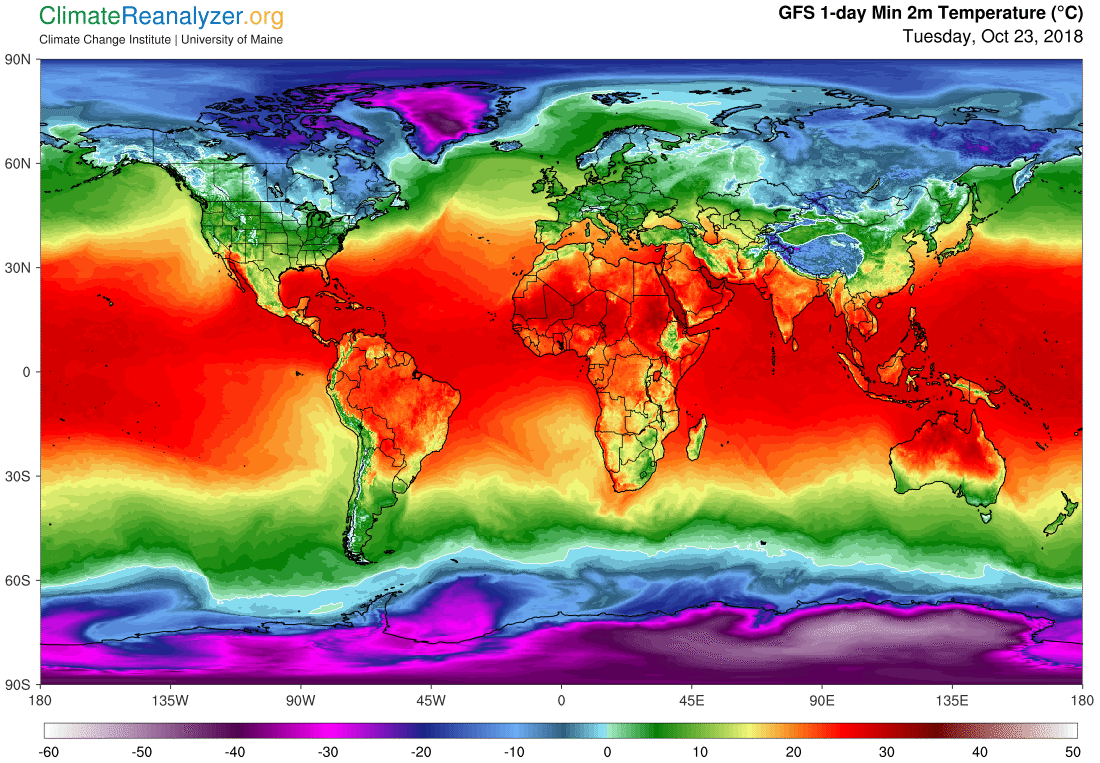 Global Meteo Overview 23 October, 2018 #Earth #weather (Raport meteo Pamant - 23 Octombrie 2018)