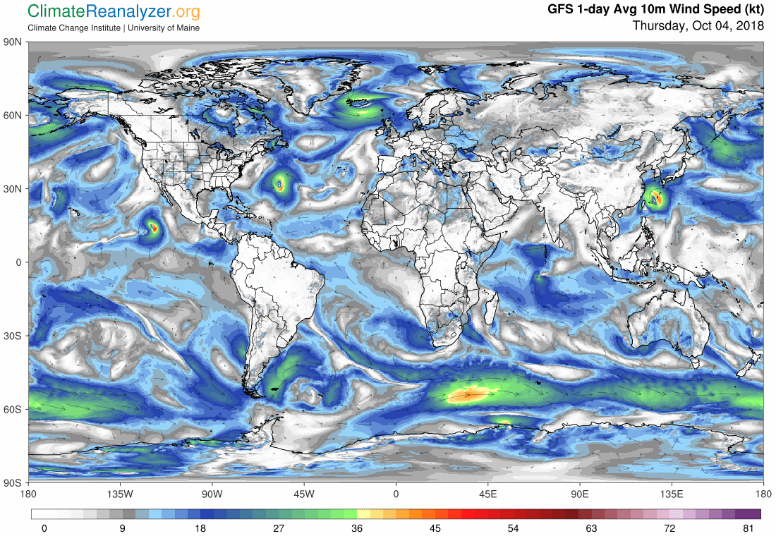 Global Meteo Overview 4 October, 2018 #Earth #weather (Raport meteo Pamant - 4 Octombrie 2018)