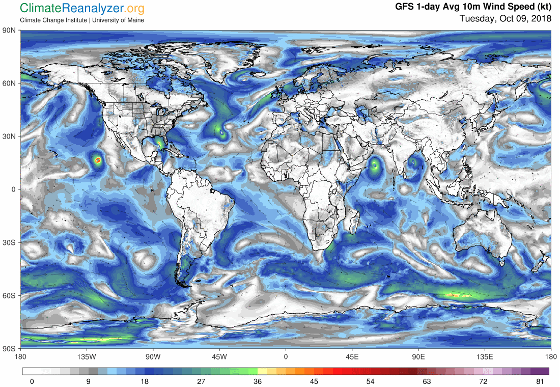 Global Meteo Overview 9 October, 2018 #Earth #weather (Raport meteo Pamant - 9 Octombrie 2018)