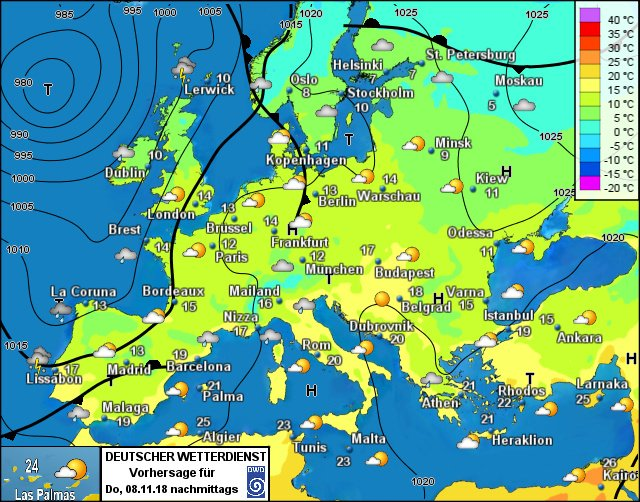 Europe Weather Forecast 24h Weatherforecast Europe