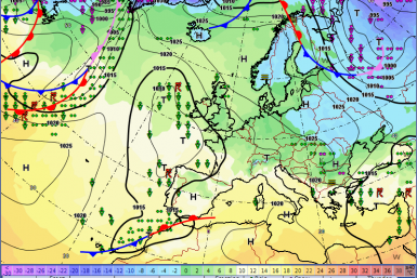Europe weather forecast 24h Fronts