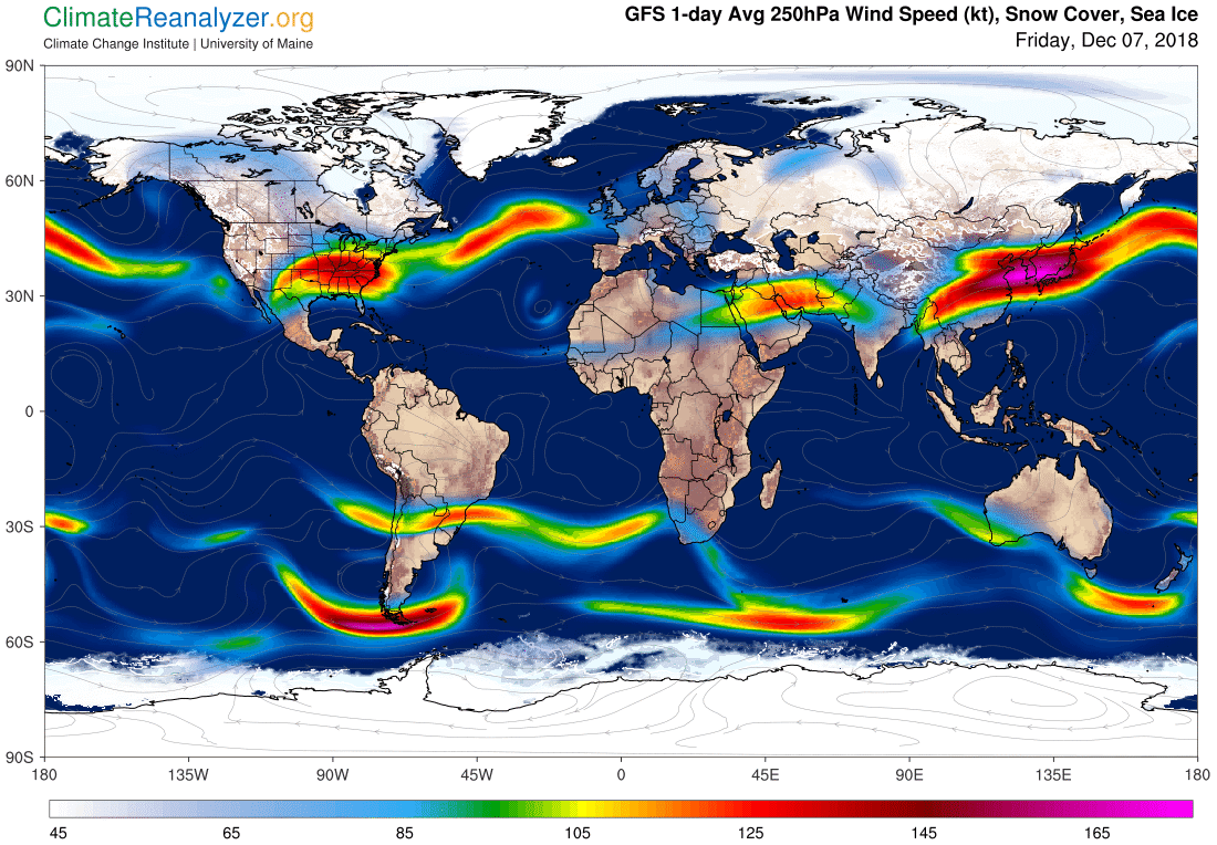 Global Meteo Overview 7 December, 2018 #Earth #weather (Raport meteo Pamant - 7 Decembrie 2018)
