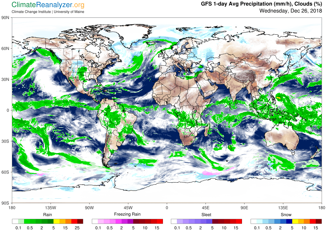 Global Meteo Overview 26 December, 2018 #Earth #weather (Raport meteo Pamant - 26 Decembrie 2018)