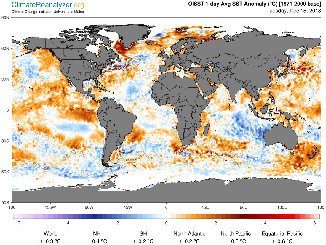 Global Meteo Overview 20 December, 2018 #Earth #weather (Raport meteo Pamant - 20 Decembrie 2018)