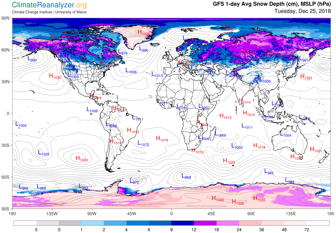 Global Meteo Overview 25 December, 2018 #Earth #weather (Raport meteo Pamant - 25 Decembrie 2018)