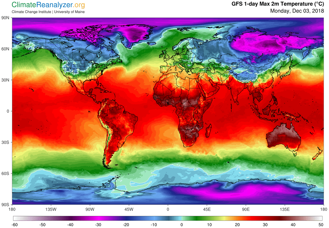 Global Meteo Overview 3 December, 2018 #Earth #weather (Raport meteo Pamant - 3 Decembrie 2018)