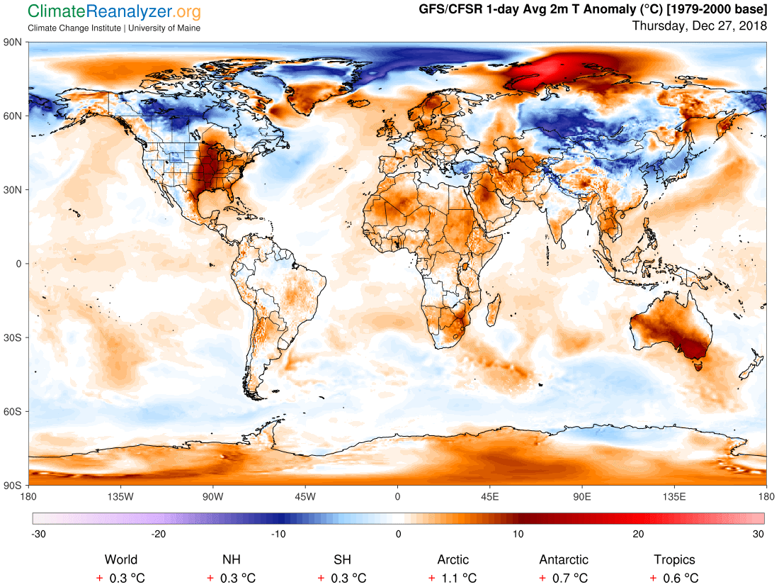 Global Meteo Overview 27 December, 2018 #Earth #weather (Raport meteo Pamant - 27 Decembrie 2018)