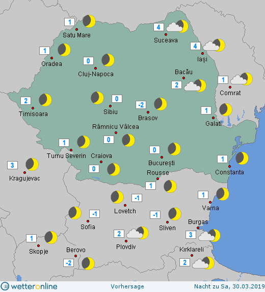 Prognoza meteo Romania 29 Martie 2019 #Romania (Romania weather forecast for today).