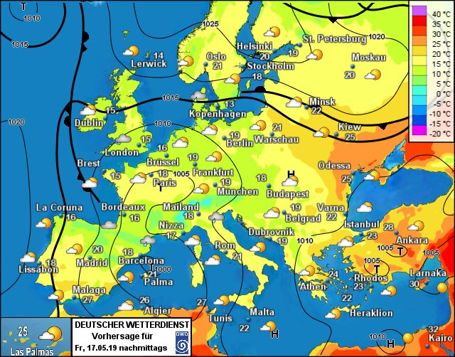 Europe weather forecast 24h