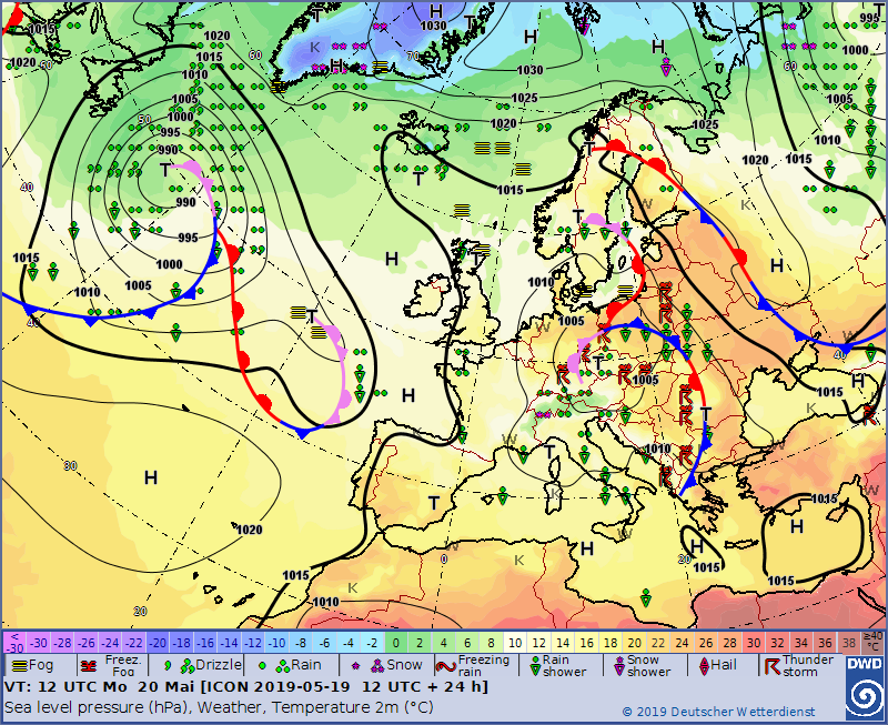 Europe weather forecast 24h #weatherforecast #Europe (Prognoza meteo pentru Europa 24h). Radar #Europe this morning.