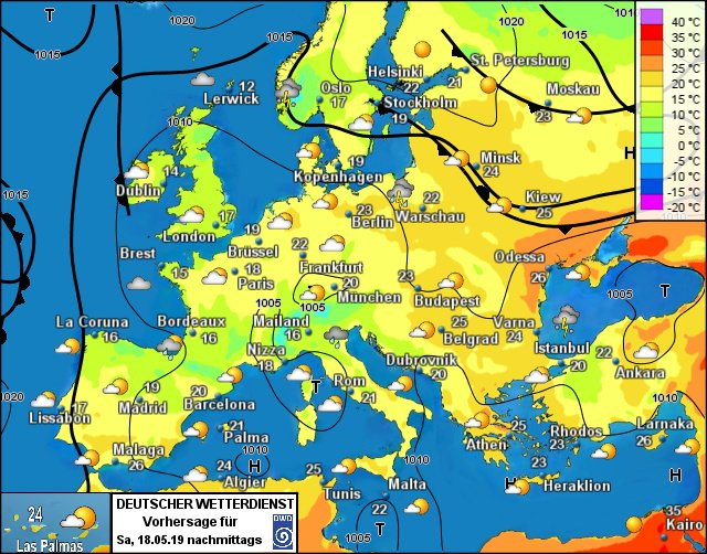 Europe weather forecast h
