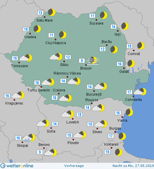 Prognoza meteo Romania 25 - 26 Mai 2019 #Romania (Romania weather forecast for today).