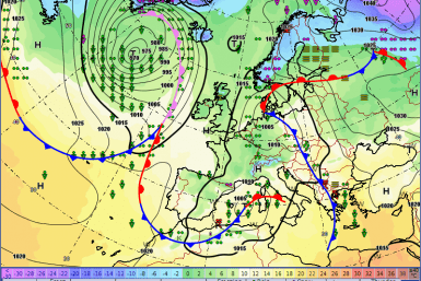 Europe weather forecast 24 h Fronts