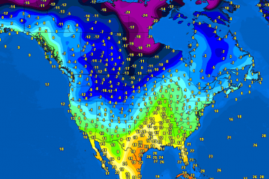 North America temperatures