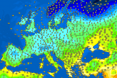 Temperatures on Europe