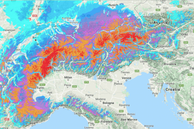alps snow forecast