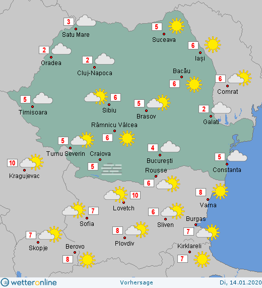 Prognoza meteo Romania 14 Ianuarie 2020 #Romania #vremea