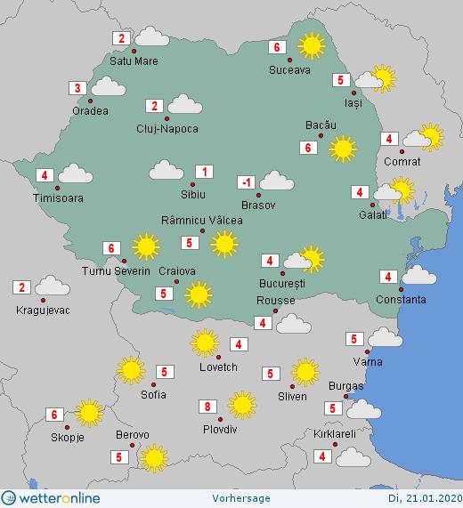 Prognoza meteo Romania 21 Ianuarie 2020 #Romania #vremea