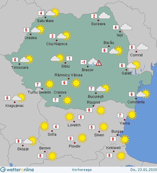 Prognoza meteo Romania 23 Ianuarie 2020 #Romania #vremea