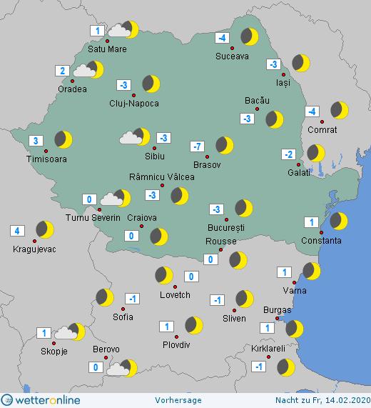 Prognoza meteo Romania 13 Februarie 2020 Romania (Romania weather forecast for today).