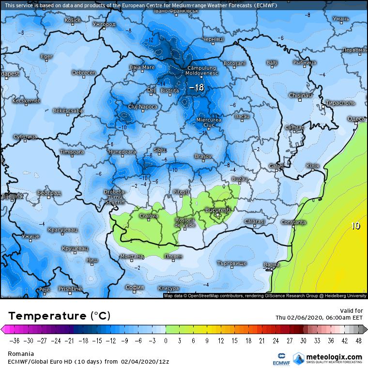 Prognoza meteo Romania 5 Februarie 2020 Romania (Romania weather forecast for today).