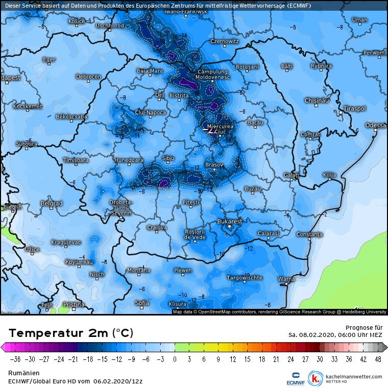 Prognoza meteo Romania 7 Februarie 2020 Romania (Romania weather forecast for today).