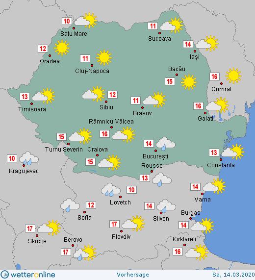 Prognoza meteo Romania 14 Martie 2020 #Romania #vremea