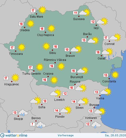 Prognoza meteo Romania 28 Martie 2020 #Romania #vremea