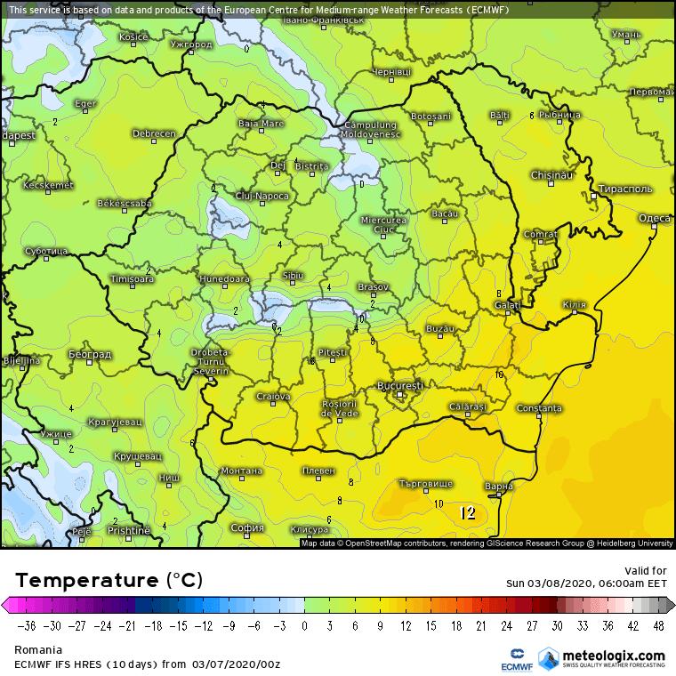 Prognoza meteo Romania  7 - 8 Martie 2020 #Romania (Romania weather forecast for today).