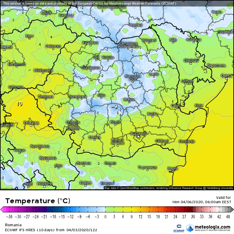 Prognoza meteo Romania  4 - 5 Aprilie 2020 #Romania (Romania weather forecast for today).