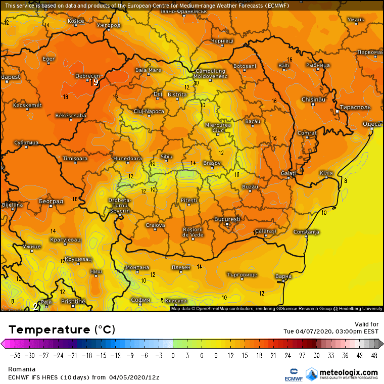 Prognoza meteo Romania 6 Aprilie 2020 Romania (Romania weather forecast for today).