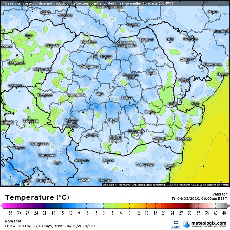 Prognoza meteo Romania 2 Aprilie 2020 Romania (Romania weather forecast for today).