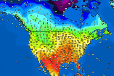 Morning temperatures North America – Major cities #USA #Canada (Temperaturile diminetii in America de Nord)
