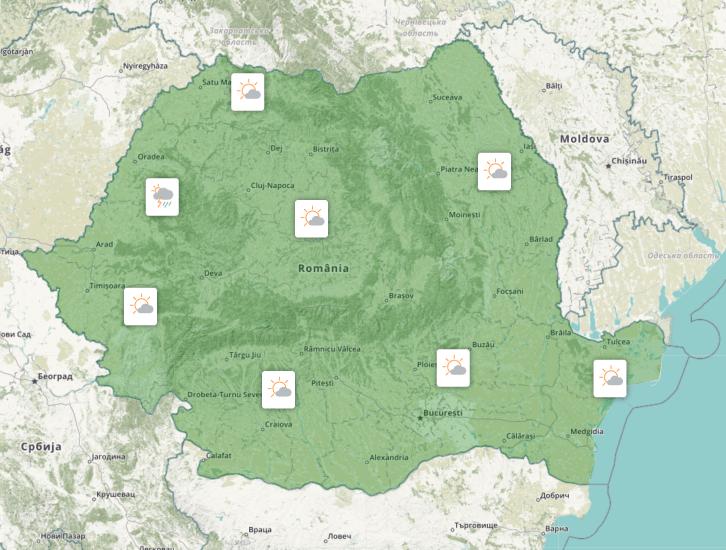 Prognoza meteo Romania 11 Mai 2020 Romania (Romania weather forecast for today).