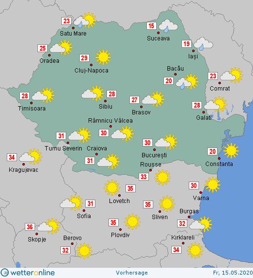Prognoza meteo Romania 15 Mai 2020 #Romania #vremea
