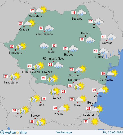 Prognoza meteo Romania 20 Mai 2020 #Romania #vremea