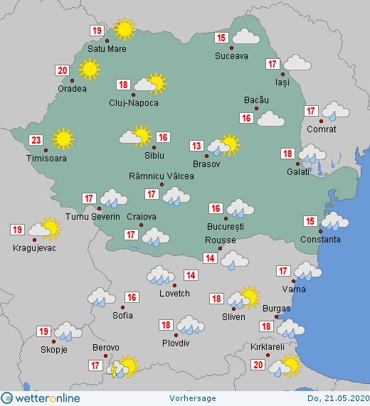 Prognoza meteo Romania 21 Mai 2020 #Romania #vremea