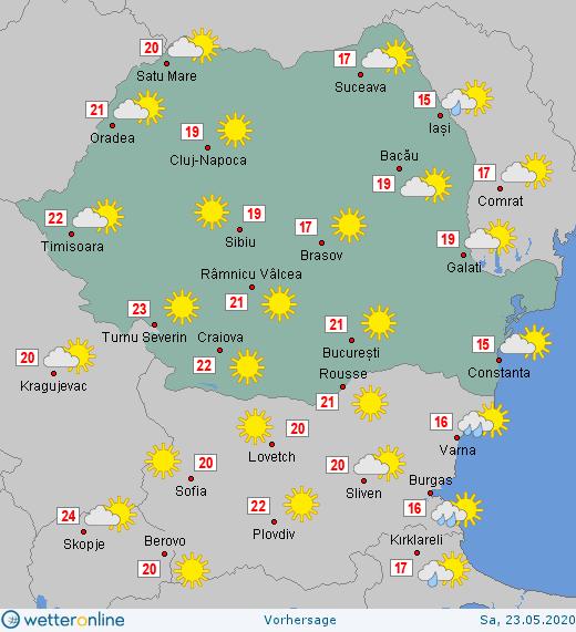 Prognoza meteo Romania 23 Mai 2020 #Romania #vremea