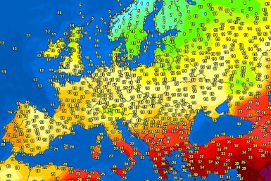 Evening temperatures Europe – Major cities #weather (Temperaturile serii in Europa)