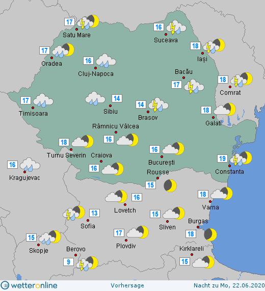 Prognoza meteo Romania 21 - 22 Iunie 2020 #Romania #vremea