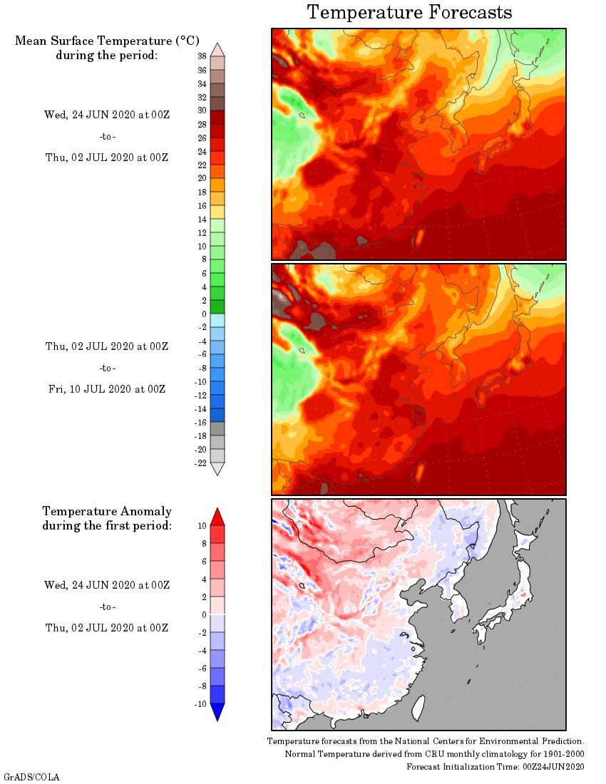 Weather forecast 2 weeks SouthEast Asia #Japan #Australia (Temperaturi si precipitatii prognozate in Sudul si Estul Asiei si Australia saptamanile urmatoare)